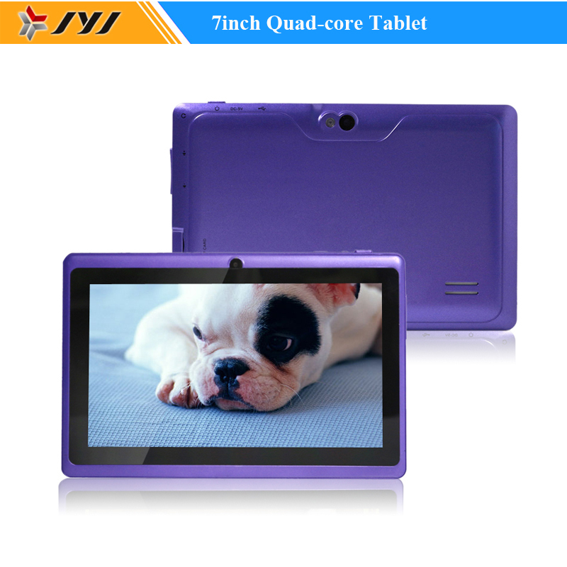 Purple Allwinner A33 Quad Core 7inch Google Android 4.4 Tablets 8GB Dual Cameras WiFi 1.6GHz Tablet PC(China (Mainland))