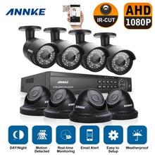 ANNKE 16CH HD 1080P HDMI DVR 1080P CCTV Bullet Camera and Dome camera Video Surveillance System Outdoor IR CCTV Kits