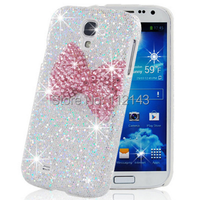 Fashion 3D handmade phone case for Samsung Galaxy S4 i9500 Bling crystal rhinestone back cover for Samsung galaxy S5 I9600(China (Mainland))