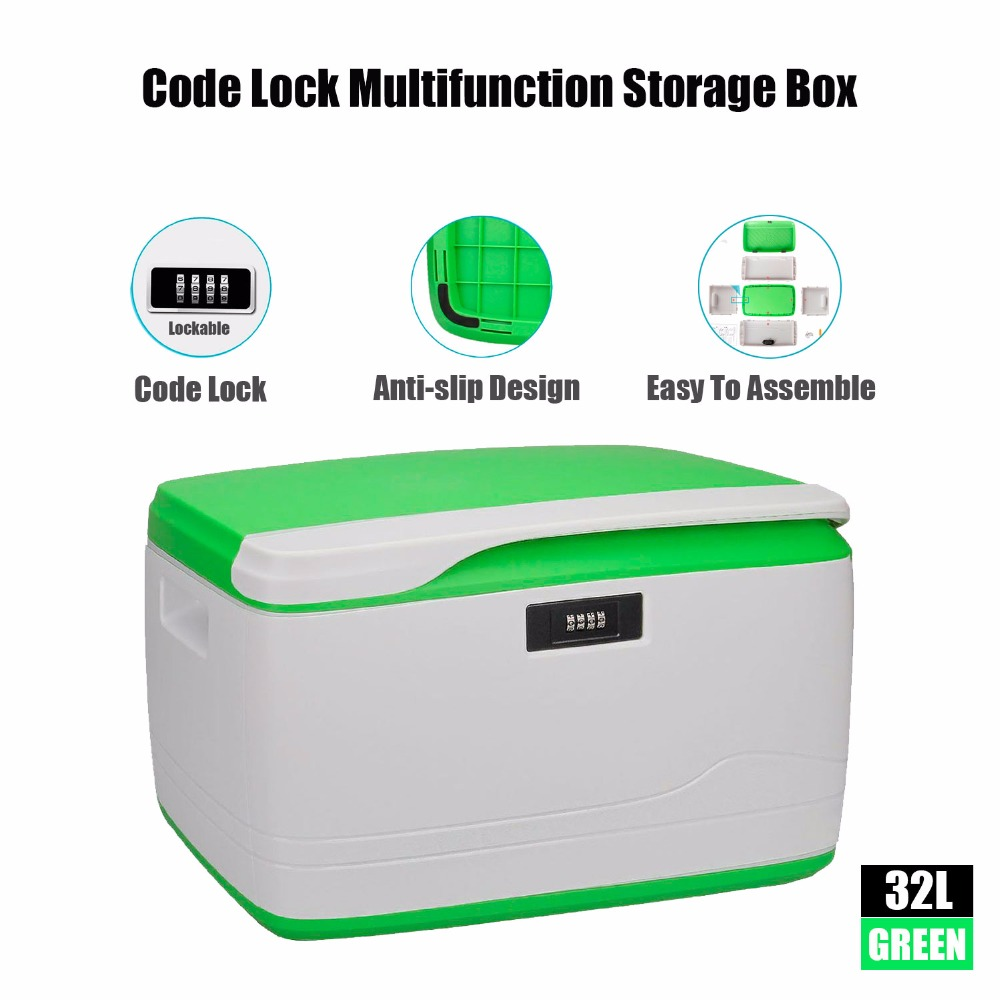34-Quart/32L Locking Storage Box with Lid Combination Multifunctional Personal Security Under-bed Container Movable Organizer(China (Mainland))