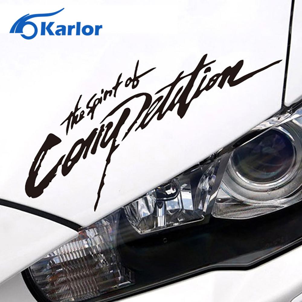 Car sticker design competition - The Spirit Of Competition Highlight Vinyl Reflectiv Car Sticker Decal For Mitsubishi Evo Asx Lancer Outlander