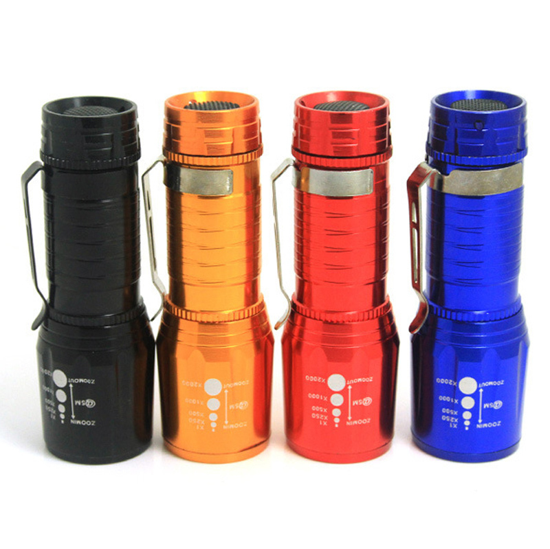 New powerful small flashlights mini lanterna LED Flashlight 2000 Lumens Zoomable Penlight Lanternas LED(China (Mainland))