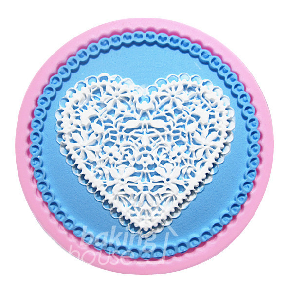 Round lace heart cake border Silicone Mold Cake Mold Silicone Baking Tools Kitchen Accessories Decorations Fondant DIY #0794(China (Mainland))