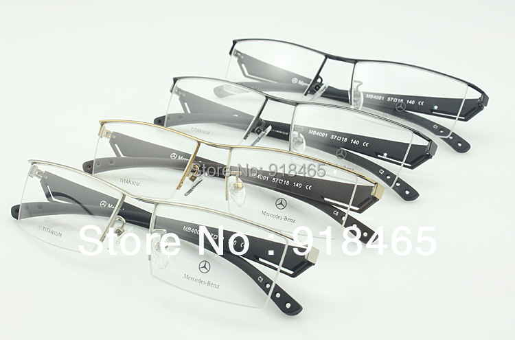 Titanium glasses frame titanium eyeglasses frame male glasses myopia frame eyeglasses Big Face MB4001