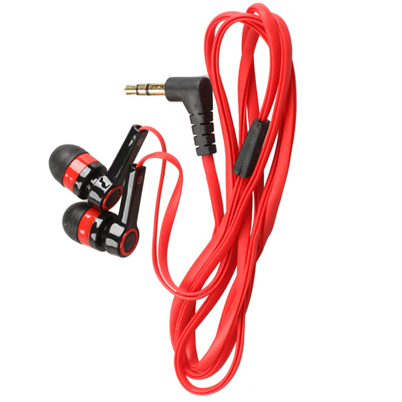 Hot 3 5mm In Ear Earphone Candy Color Symmetric Headphone Flat Cable Versatile New Arrival Promotion