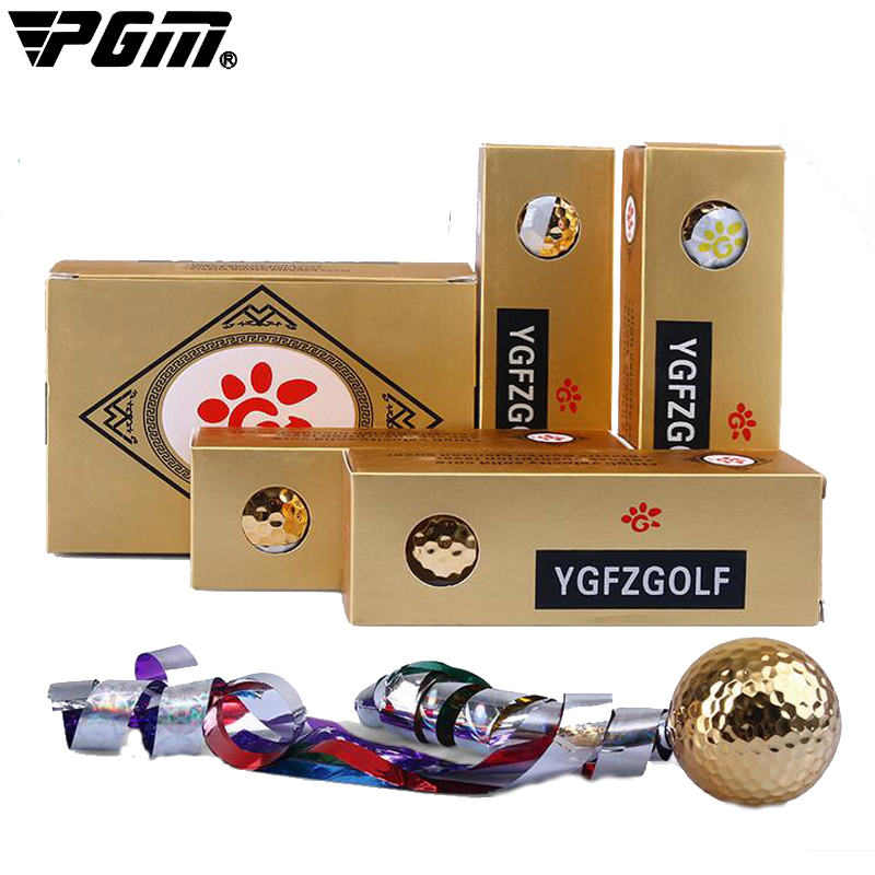 PGM Golf ball golf tee Colored ribbon opening ceremony gifts ball special gift Enjoy swing high elasticity wear ball(China (Mainland))