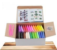 24 цвета дети DIY цветной глины / моделирование полимерной глины / мягкий ластик пластилина / playdough детей и детей развивающие игрушки