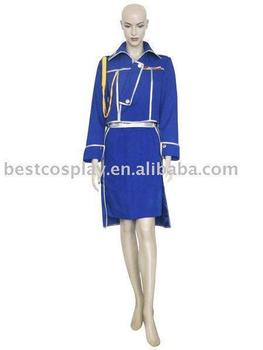 FullMetal Alchemist Winry Rockbell Military Cosplay Costume free shipping