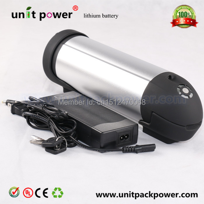 Free shipping lithium ion 48v 10ah water bottle battery for e-bike with charger<br><br>Aliexpress