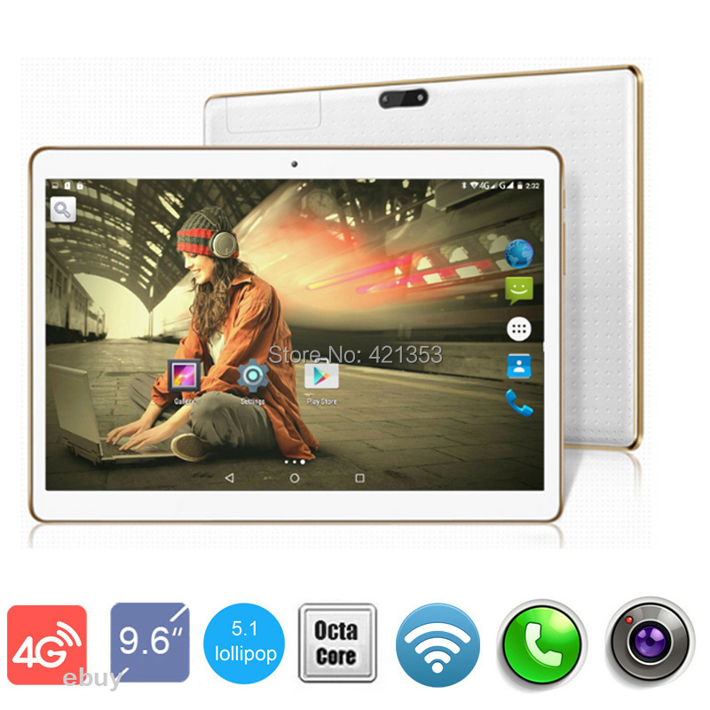 """Free Shipping 9.6 inch 3G 4G LteTablet PC 4GB RAM 32GB ROM Dual Sim Cards Android 5.1 Octa Core 1280*800 IPS tablet PC 10""""(China (Mainland))"""