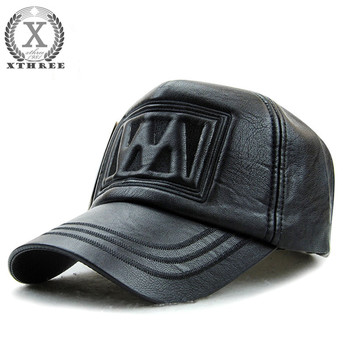 New fall winter fashion high quality faux leather baseball cap snapback hat for men women casual hat wholesale