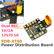 Matek PDB-XT60 Power Distribution Board PDB with Dual BEC 5V/2A 12V/0.5A XT60 Plug for RC Drones
