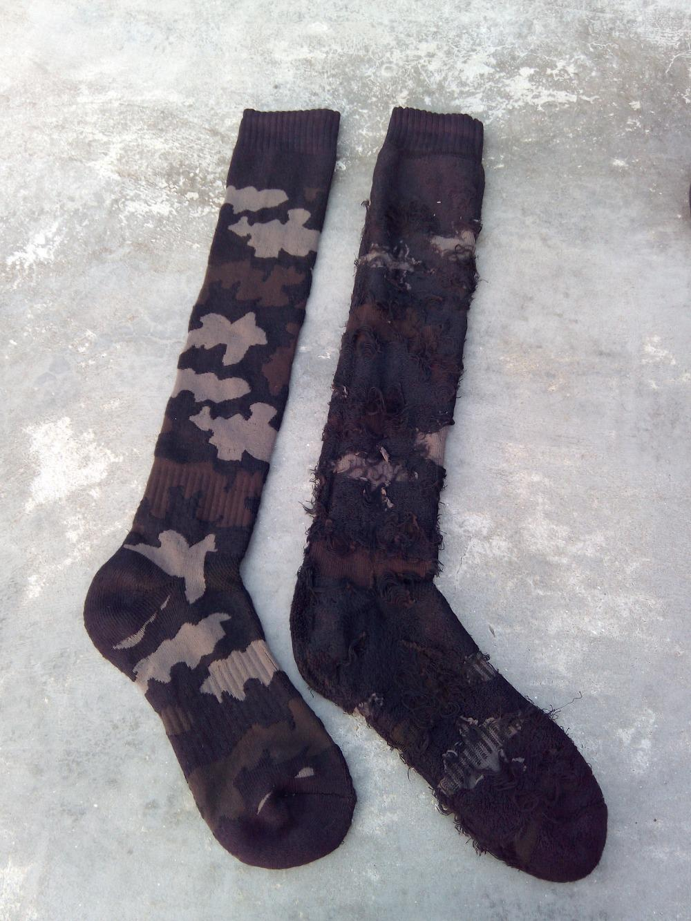 Knitting Pattern For Ski Socks : New camo knee high lg basketball Knitting towel bottom ski socks outdo skateb...