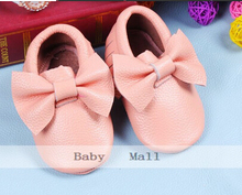 New 18 colors  fringe bow Genuine Leather Baby Moccasins soft Baby Shoes First Walker Chaussure Bebe newborn shoes freeshipping(China (Mainland))