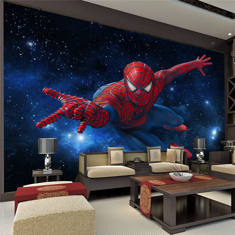 Spider man Photo Wallpaper Silk Wallpaper Large wall art Room decor ...