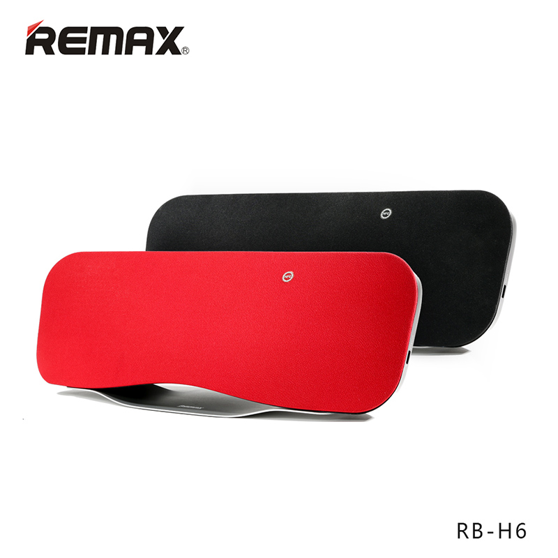 REMAX RB-H6 Desktop Bluetooth speaker Portable Wireless speaker 3D stereo bass surrounded sound NFC HIFI Remote USB Charge(China (Mainland))