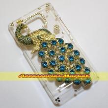 For Samsung Galaxy S2 I9100 Case Cover, Handmade Bling 3D Peacock Phone Case Cover For Samsung Galaxy S2 I9100(China (Mainland))