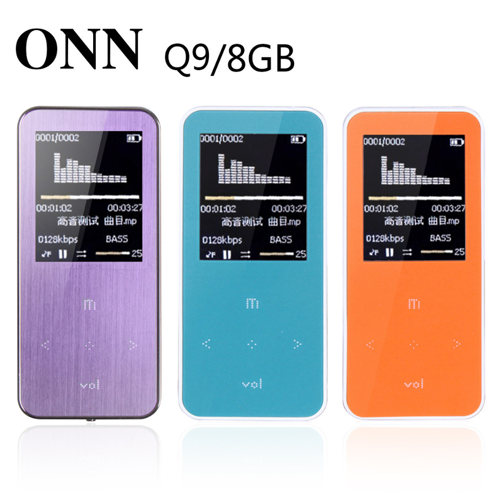 Free Shipping ONN Mp3 Player 8GB Suport WAV/APE/WMA/MP3 TF 16GB Support Metal Case Good Quality 21 Kinds of Language Choose<br><br>Aliexpress