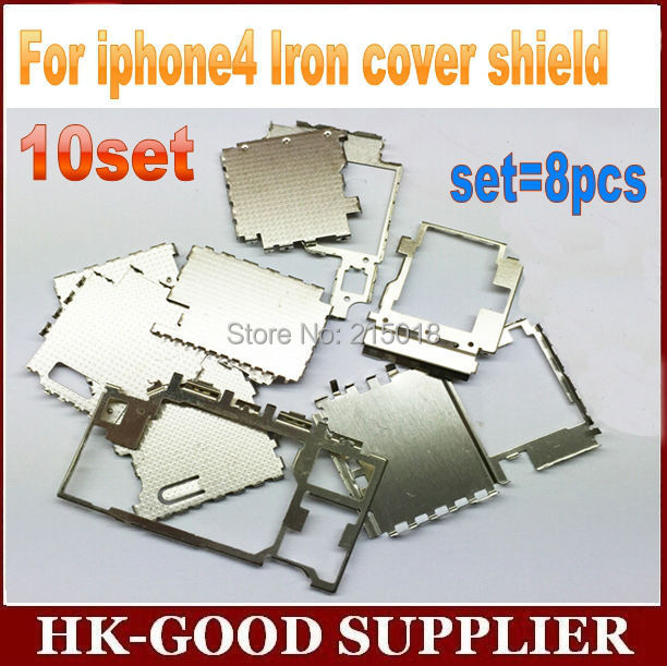 10set cover For iphon4 Iron cover shield set=8pcs freeshipping