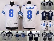 A+++ all stitched ,Dallas Cowboys signature 8 Troy Aikman,9 Tony Romo,12 Roger Staubach 19 Miles Austin(China (Mainland))