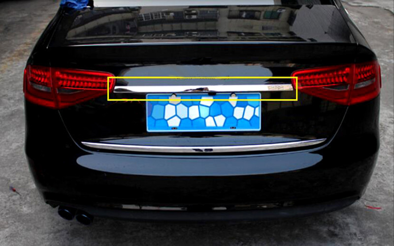 For Audi A4 B8 2013-2015 Stainless Steel Rear Trunk Lid Cover Trim Exterior Chromium Styling Parts 1pcs<br><br>Aliexpress