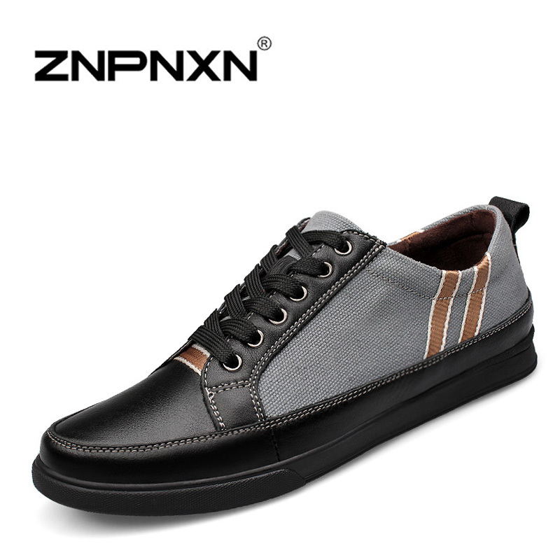 ZNPNXN 2015 Spring Men Shoes Genuine Leather Loafers Casual Driving Shoes Moccasins Lace up Sneakers 37-46<br><br>Aliexpress