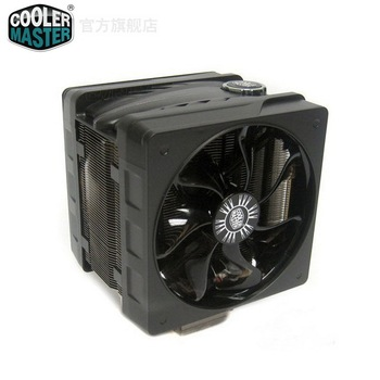 Free Shipping!!Wholesale!!The CoolerMaster V6gt 6 heat pipe radiator CPU thermostat radiator dual fan LGA2011 fan