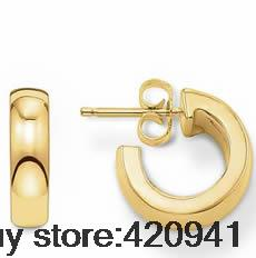 Hot Selling European Style Gold Plated Jewelry TMS Hinged Hoop Earrings for Women TS thomas saab Collection(China (Mainland))