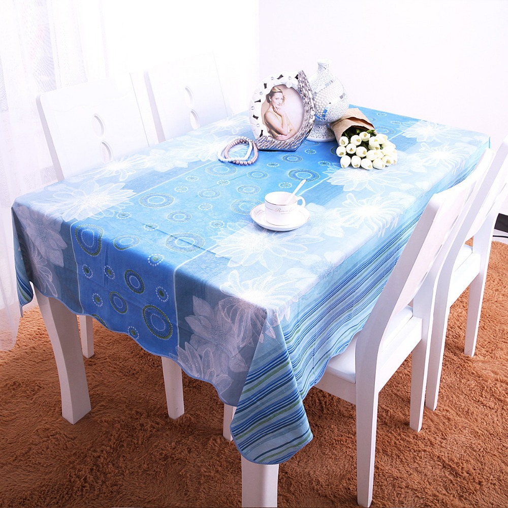 (Mutil Size & Color)Hot Selling PVC Table Cloth Disposable Waterproof Oilproof Dinner Tablecloth Beautiful Printed Tablecloth(China (Mainland))