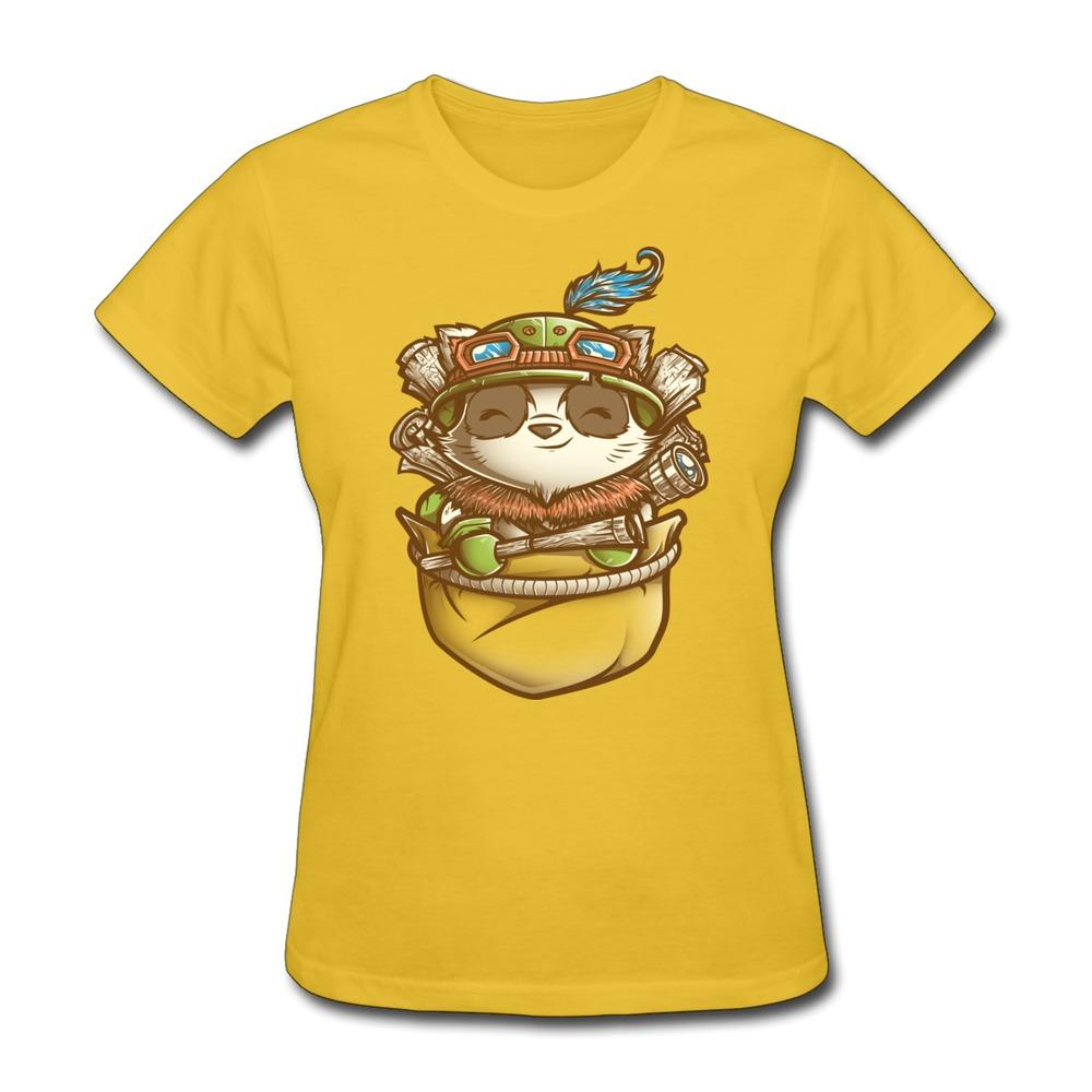 Unique Design O Neck Womens T Shirt Pocket Scout