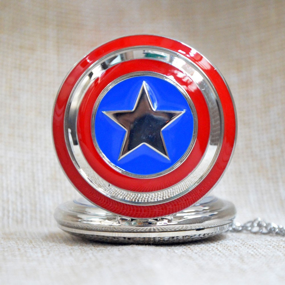 Гаджет  Pocket watch Fullmental Alchemist Deadpool Superman Nightmare before christmas Fire Fighter Captain America Police superman None Часы