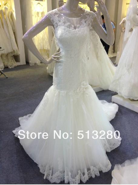 Shooting on a new trail elegant simplicity yarn lace bridal wedding ceremony(China (Mainland))