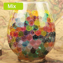 2015 HOT 2000pcs multi colors Water Plant Flower Jelly Crystal Soil Mud Water Pearls Vase Soil Gel Beads Balls Bead Decoration