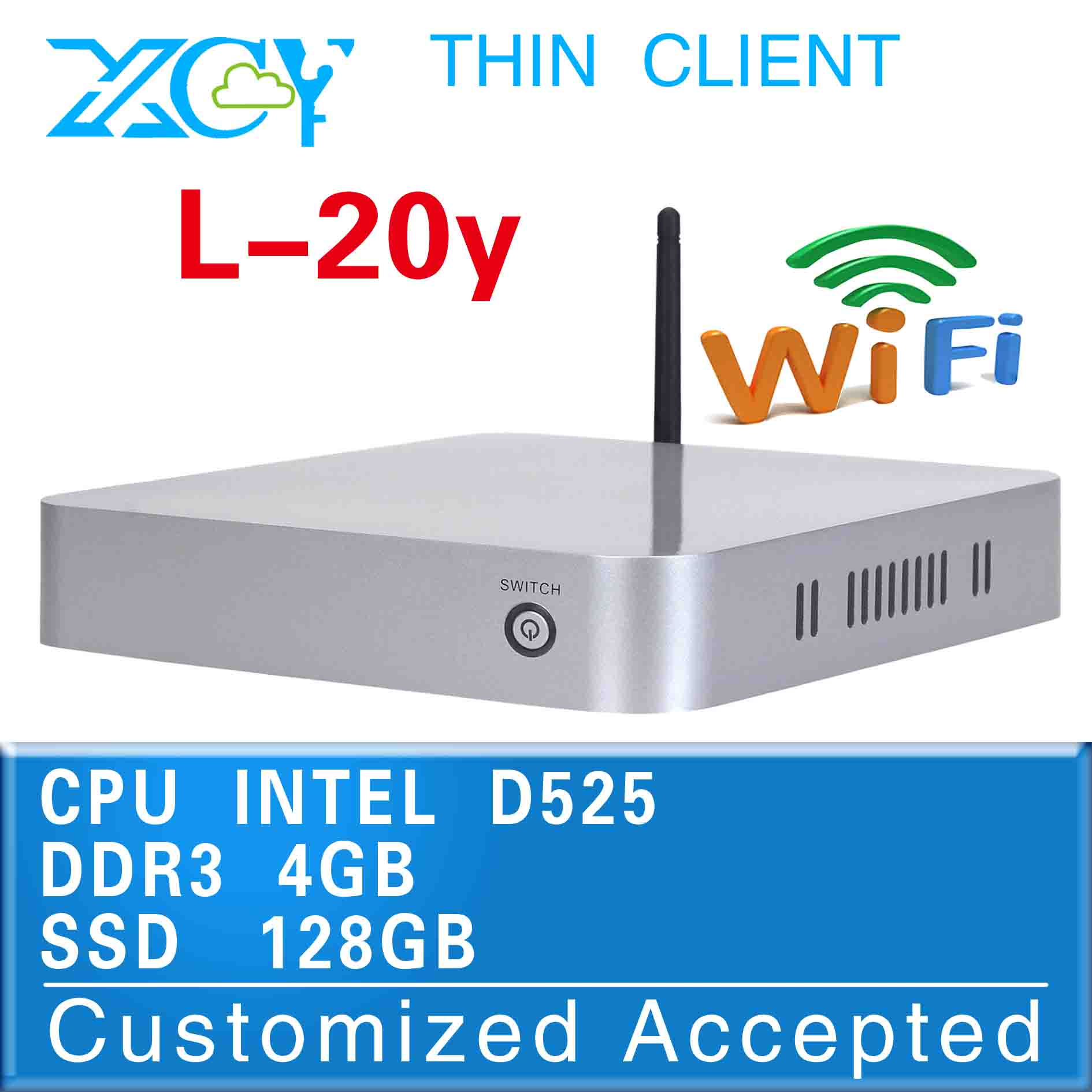 High-performance Powerful energy-saving CPUs embeded pc desktop computer gaming pc L-20Y D525 support MIC(China (Mainland))
