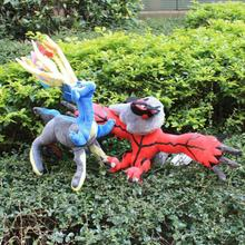 Fashion Anime Cartoon Pokemon Pocket Monster XY Xerneas and Yveltal Plush Toys Soft Stuffed Animal Doll Figure Toy Free Shipping