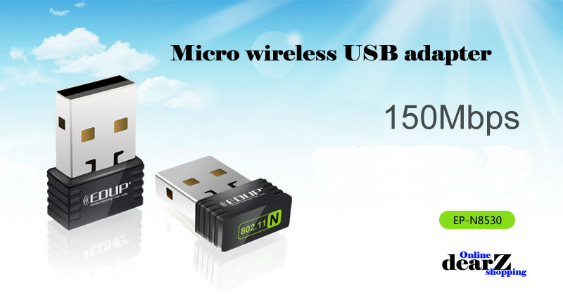 EDUP-N8530 150M Mini USB wireless network card WiFi signal transmitter /receiver desktop WLAN USB Adapter for Nano free shipping