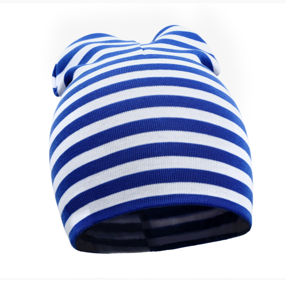 New Autumn Baby Cotton Hat Knitted Warm Striped Soft Toddler Beanie Baby Cap Kids Girl Boy Baby Beanies Accessories D1(China (Mainland))