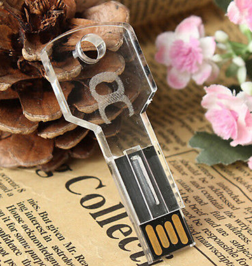 Engrave 3D New Transparent LED Key Personalized usb 2.0 memory flash stick pen drive for computer(China (Mainland))