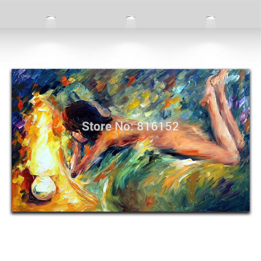Buy Modern Abstract Oil Painting Handpainted Nude Women Painting Oil Palette Knife Painting Canvas Art Wall Picture for Living Room cheap