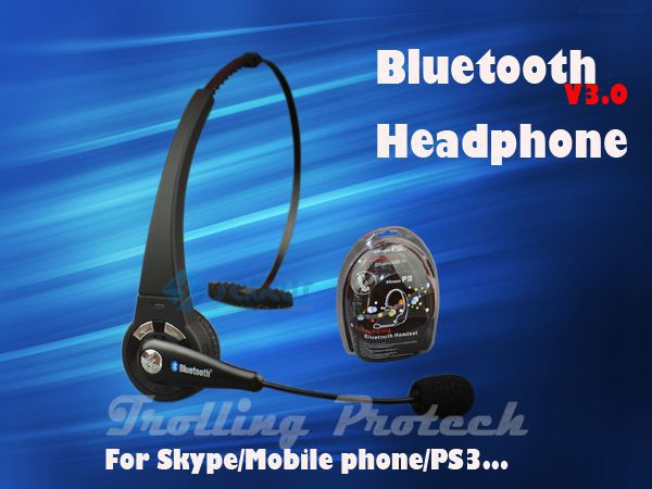 Wireless Bluetooth Headset for Skype/PC/Mobile phone/working,Headphone Earphone,Good Game Partner(China (Mainland))