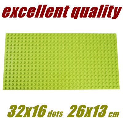 2015 3pcs/lot Wange Medium particles Blocks Baseplates 32*16 particles Base plate with size26*13cm Toys Compatible with lego<br><br>Aliexpress