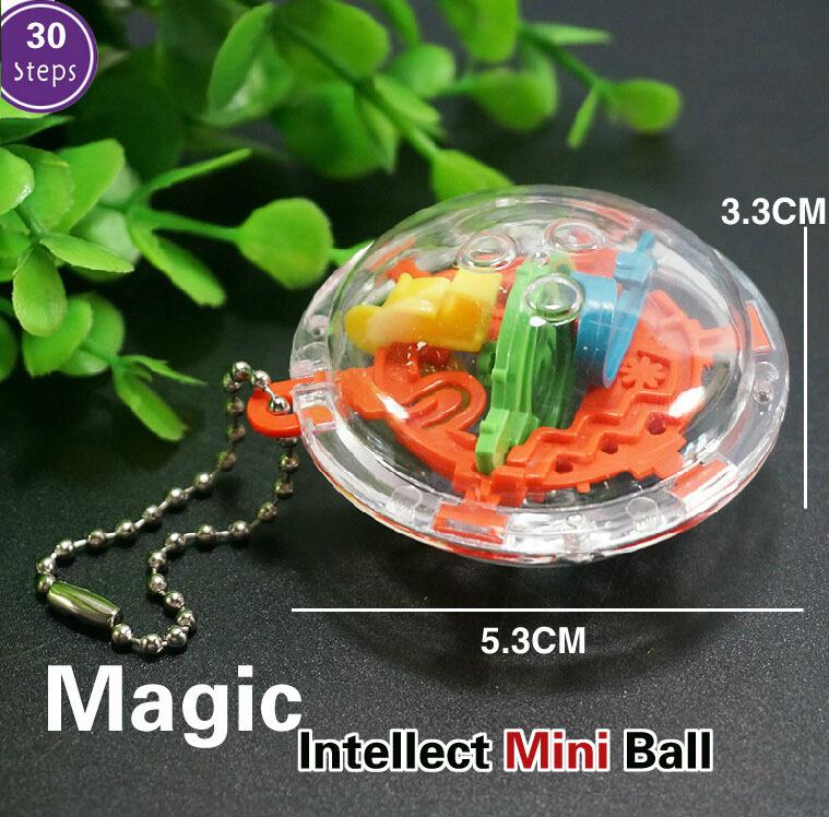 2 pcs 3D Mini Magic Intellect Maze Ball Kids Children Balance Logic Ability Puzzle Game Educational Training Tools GYH(China (Mainland))