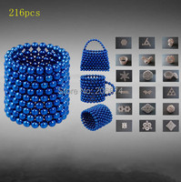 Free Shipping Hot Novelty Neocube DIY 216 PCS Buckyballs Neo Cube Magic Cube Puzzle Magnet Magnetic Balls Education Toy