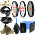 KnightX 49mm 52mm 55mm 58mm 67mm 72mm 77mm FLD UV Lens hood cleaning lenses Kit for