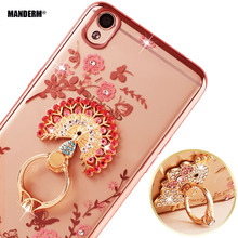 """Buy R9 plus case Luxury Rhinestone Phone Case Cover +Finger Rotated Ring Holder Stand Oppo R9 plus 6.0"""" Ultra-thin Silicone Case for $3.79 in AliExpress store"""