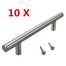 High Quality 10pcs Stainless Steel Cabinet T Bar Handle Kitchen Cabinet Handles Best Promotion(China (Mainland))