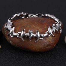 ZOSHI 316L ze stali nierdzewnej fajne mężczyźni stali wysokiej jakości Biker mężczyzna czaszki charms bransoletka łańcuch cena fabryczna bransoletki i bransoletki(China)