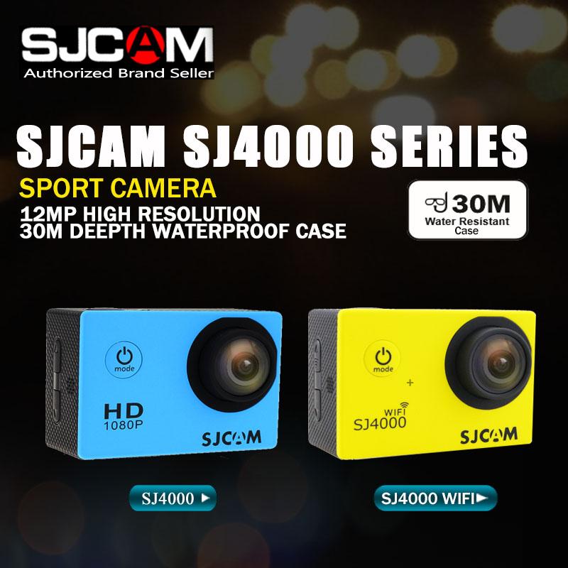 Original SJCAM SJ4000 Series SJ4000 & SJ4000 WIFI Action Camera Waterproof Camera 1080P HD Sport DV(China (Mainland))
