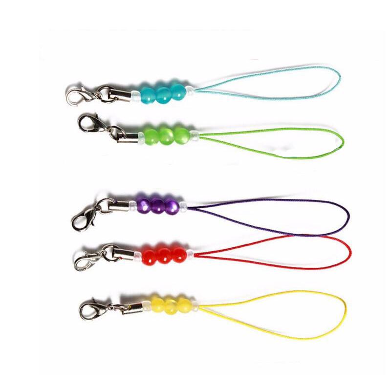 40 pcs Diy Pearl Mobile Phone Strap lanyard pendant cute cell phone hand Ropes Decorative Lanyard Flashlight Chain Key Ring+Gift(China (Mainland))