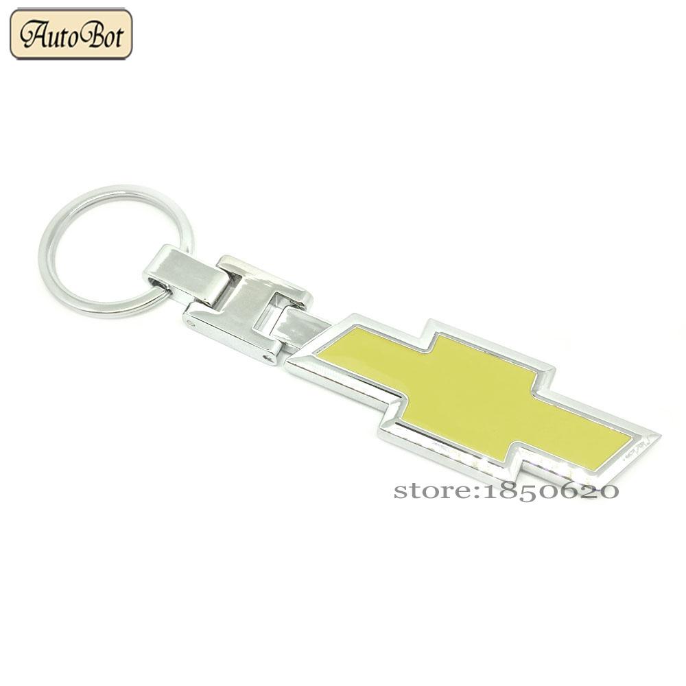 Car Styling Metal KeyChain Key Chain Ring Badge Emblem KeyRing Keyholder For Chevrolet Logo Cruze Captiva Malibu Camaro Sail(China (Mainland))